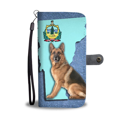 German Shepherd Dog Print Wallet Case-Free Shipping-VT State