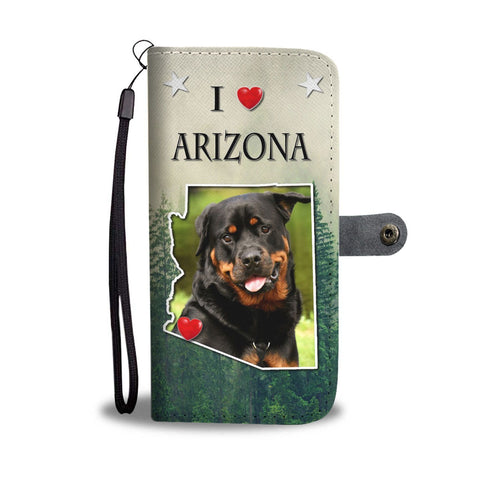 Cute Rottweiler Print Wallet Case-Free Shipping-AZ State