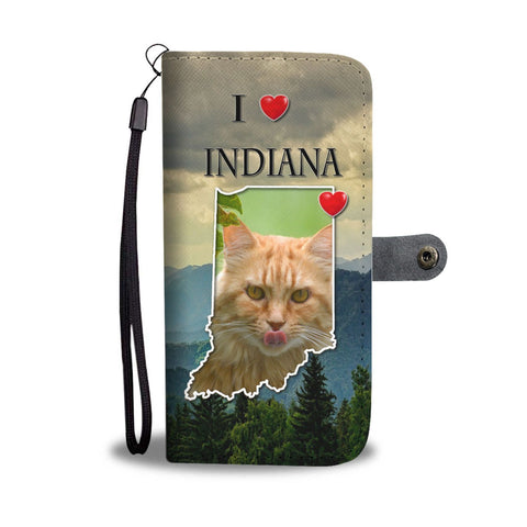 Maine Coon Cat Print Wallet Case-Free Shipping-IN State