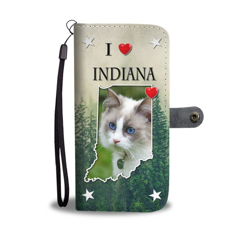 Ragdoll Cat Print Wallet Case-Free Shipping-IN State