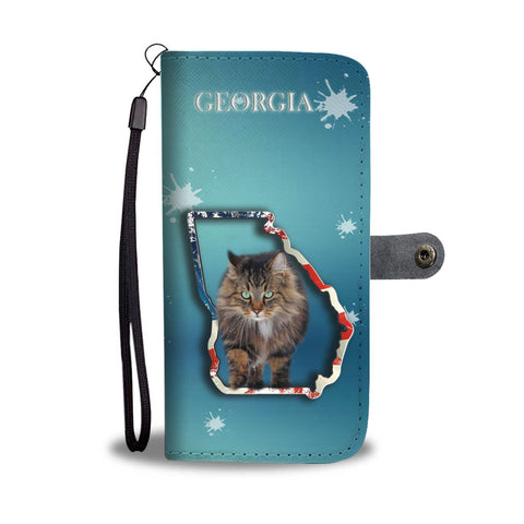 Norwegian Forest cat Print Wallet Case-Free Shipping-GA State