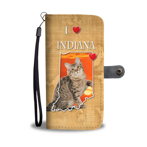 Cute American Bobtail Cat Print Wallet Case-Free Shipping-IN State