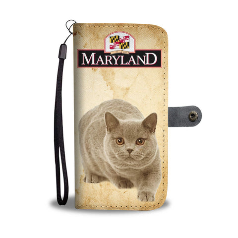 British Shorthair Cat Print Wallet Case-Free Shipping-MD State