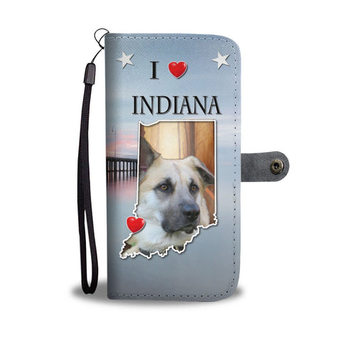 Chinook Dog Print Wallet Case-Free Shipping-IN State
