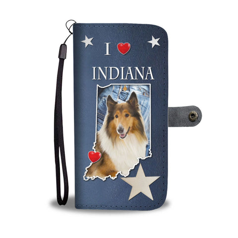 Rough Collie Print Wallet Case-Free Shipping-IN State