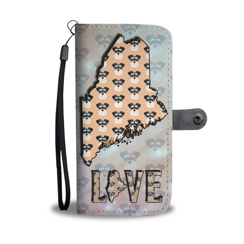 Miniature Schnauzer Dog Pattern Print Wallet Case-Free Shipping-ME State
