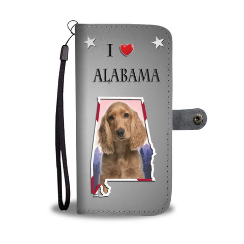 Cocker Spaniel Print Wallet Case-Free Shipping-AL State