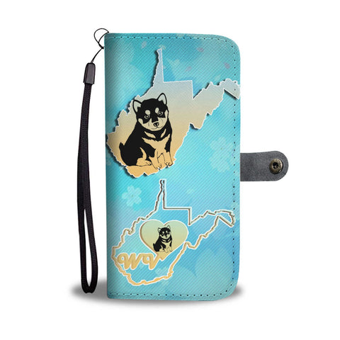 Lovely Shiba Inu Dog Art Print Wallet Case-Free Shipping-WV State