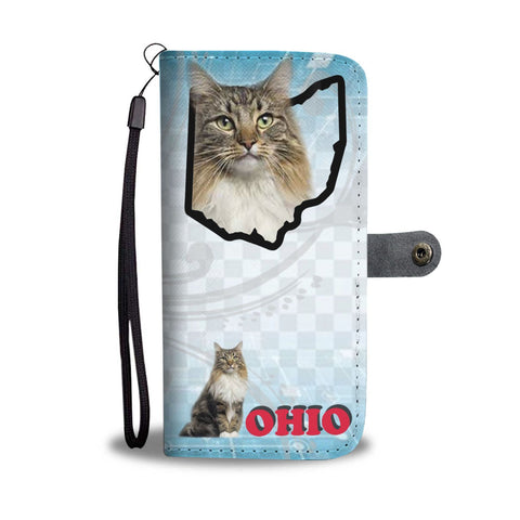 Norwegian Forest Cat Print Wallet Case-Free Shipping-OH State