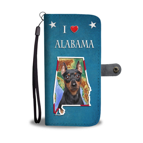 Miniature Pinscher Print Wallet Case-Free Shipping-AL State