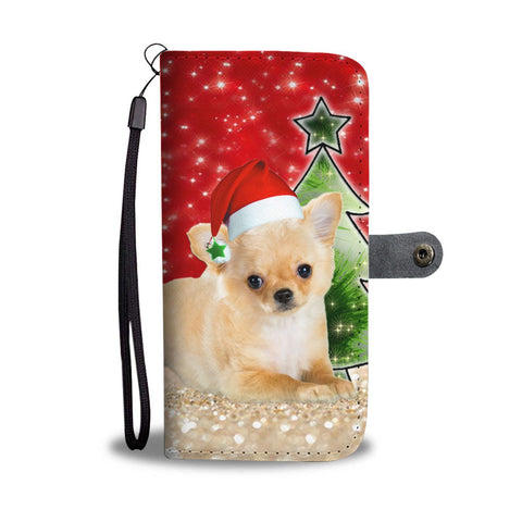 Chihuahua On Christmas Print Wallet Case-Free Shipping