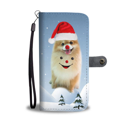Pomeranian Dog Christmas Print Wallet Case-Free Shipping