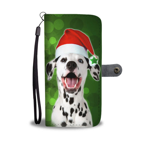 Dalmatian Dog On Christmas Print Wallet Case-Free Shipping