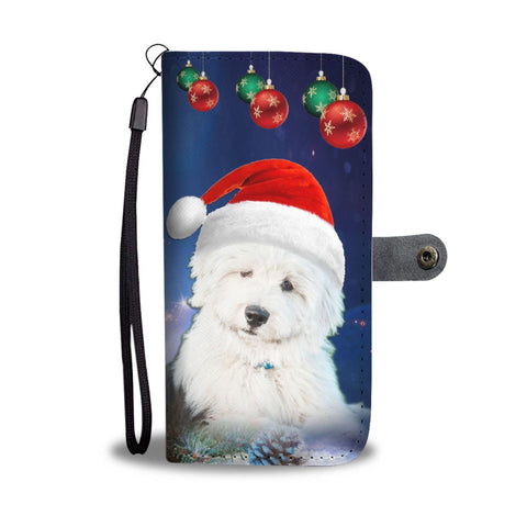 Old English Sheepdog Christmas Print Wallet Case-Free Shipping