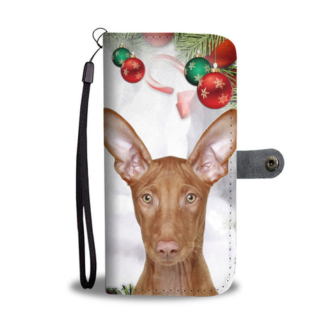 Pharaoh Hound On Christmas Print Wallet Case-Free Shipping