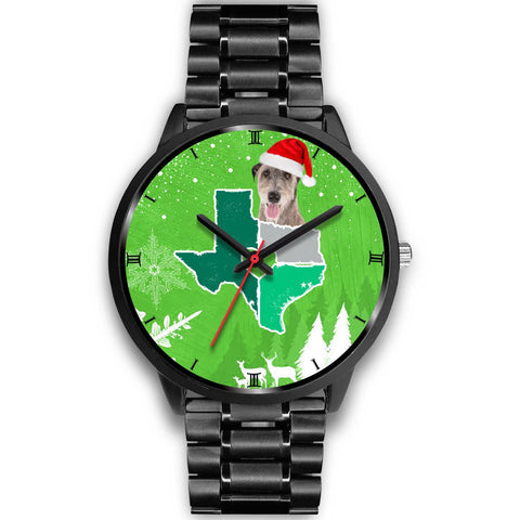 Irish Wolfhound Dog Texas Christmas Special Wrist Watch-Free Shipping