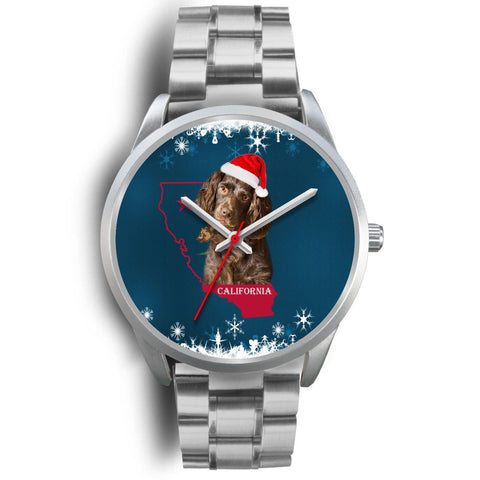 Boykin Spaniel Dog California Christmas Special Wrist Watch-Free Shipping