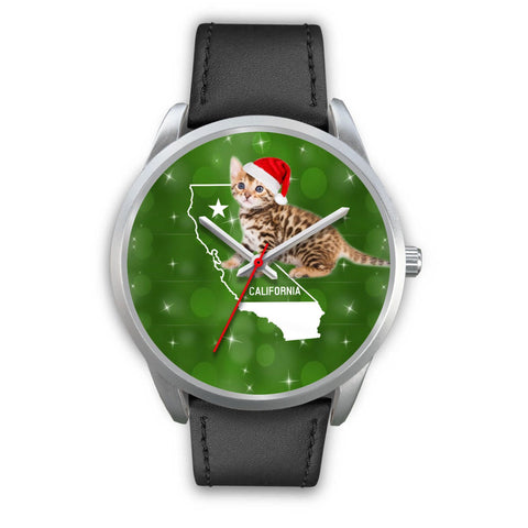 Cute Bengal Cat California Christmas Special Wrist Watch-Free Shipping