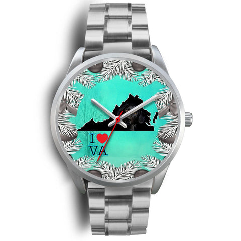 Black Labrador Dog Virginia Christmas Special Wrist Watch-Free Shipping