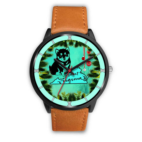 Lovely Shiba Inu Dog Art Virginia Christmas Special Wrist Watch-Free Shipping