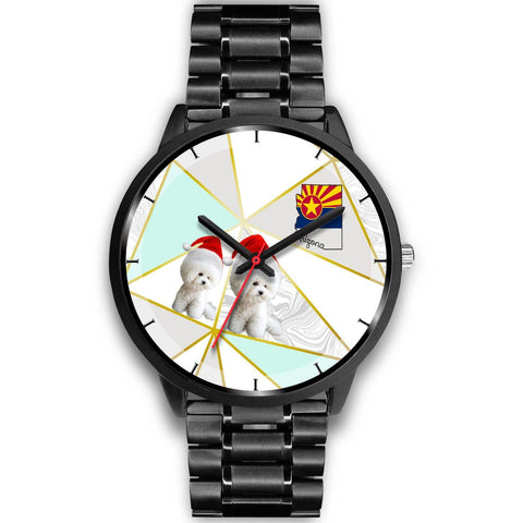 Bichon Frise On Christmas Arizona Wrist Watch-Free Shipping