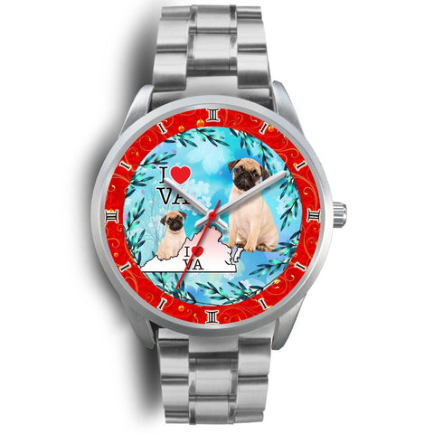 Cute Pug Dog Dog Virginia Christmas Special Wrist Watch-Free Shipping