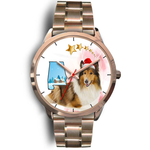 Rough Collie Alabama Christmas Special Wrist Watch-Free Shipping