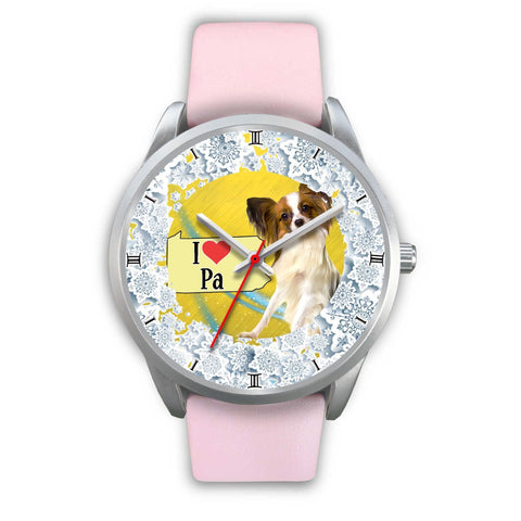 Cute Papillon Dog Pennsylvania Christmas Special Wrist Watch-Free Shipping
