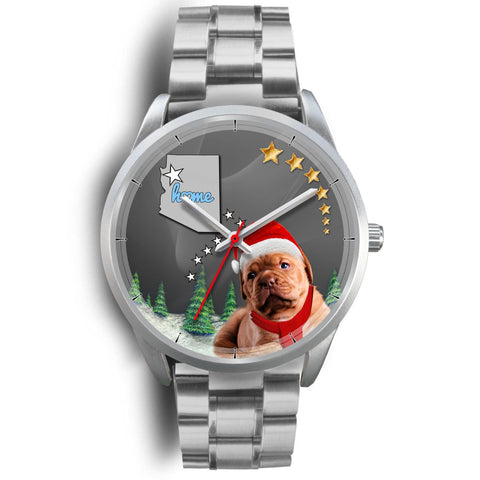 Cute Bordeaux Mastiff Arizona Christmas Special Wrist Watch-Free Shipping