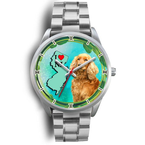 Lovely Cocker Spaniel Dog New Jersey Christmas Special Wrist Watch-Free Shipping