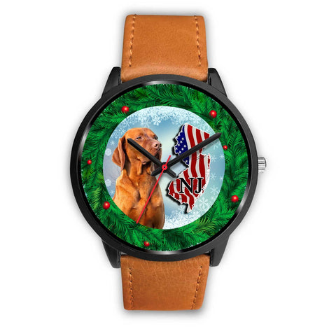 Vizsla Dog New Jersey Christmas Special Wrist Watch-Free Shipping