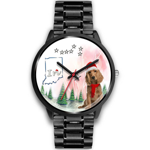 Cocker Spaniel Indiana Christmas Special Wrist Watch-Free Shipping