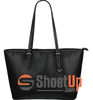 Protected By Second Amendment-Large Leather Tote Bag-Free Shipping