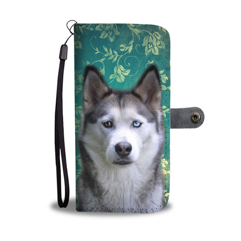 Siberian Husky Print Wallet Case- Free Shipping