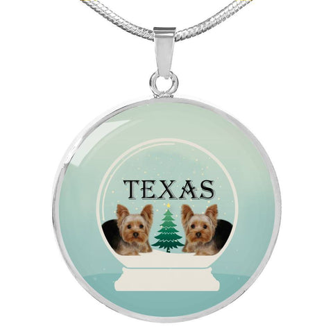 Yorkshire Terrier (Yorkie) Texas Print Luxury Necklace-Free Shipping