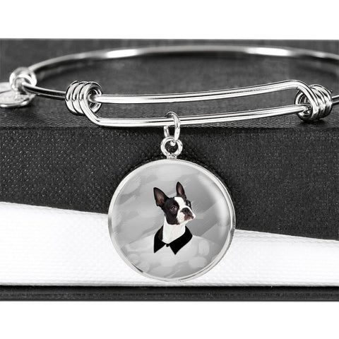 Boston Terrier Print Bangle-Free Shipping