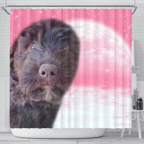 Bouvier des Flandres Puppy Print Shower Curtain-Free Shipping