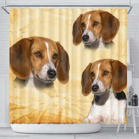 Cute American Foxhound Print Shower Curtains-Free Shipping
