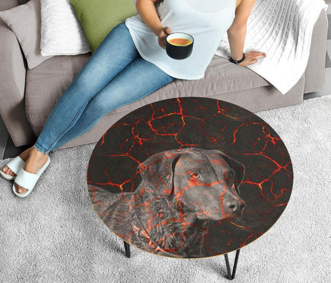 Chesapeake Bay Retriever Print Circular Coffee Table