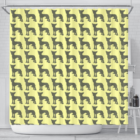 Chinese Crested Dog Pattern Print Shower Curtains-Free Shipping