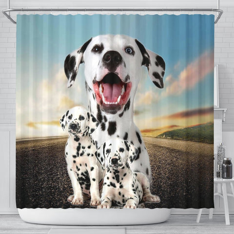 Lovely Dalmatian Print Shower Curtains-Free Shipping