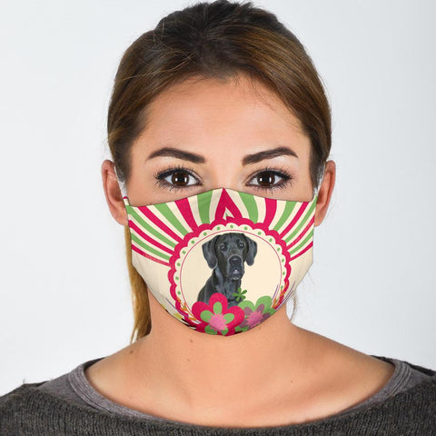 Cute Great Dane Print Face Mask
