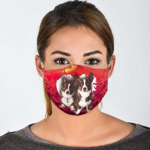 Cardigan Welsh Corgi Print Face Mask- Limited Edition