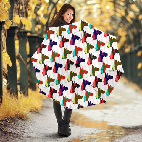 Great Dane Dog Pattern Print Umbrellas