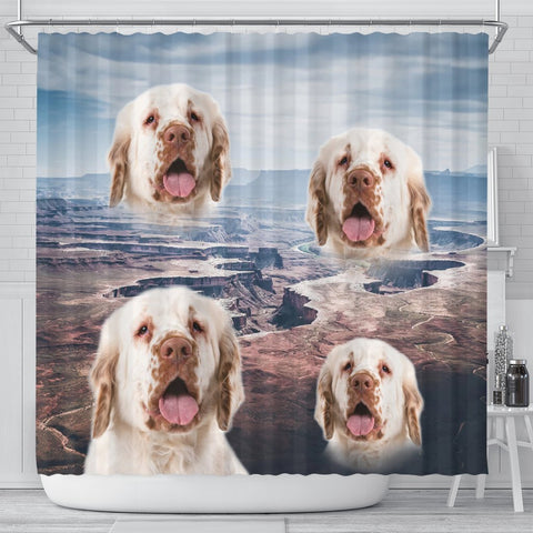 Clumber Spaniel Print Shower Curtains-Free Shipping