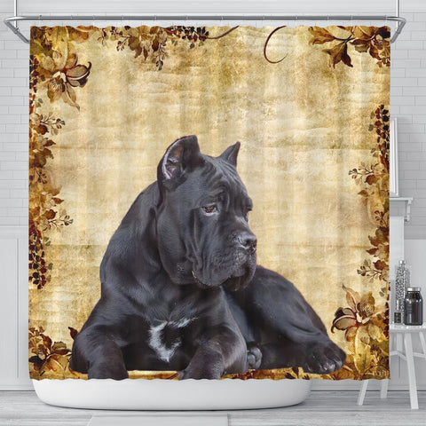 Cute Cane Corso Print Shower Curtains-Free Shipping