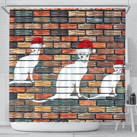 Cornish Rex Cat Print Shower Curtain-Free Shipping