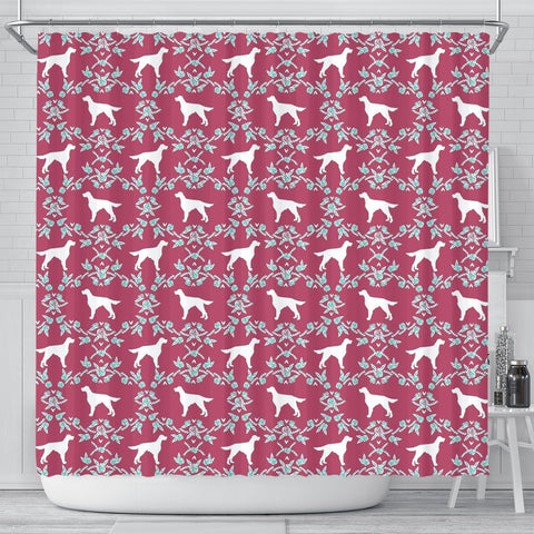 Irish Setter Dog Pattern Print Shower Curtains-Free Shipping
