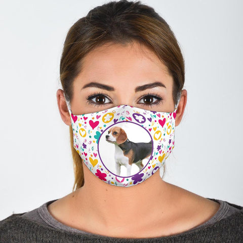 Cute Beagle Dog Print Face Mask
