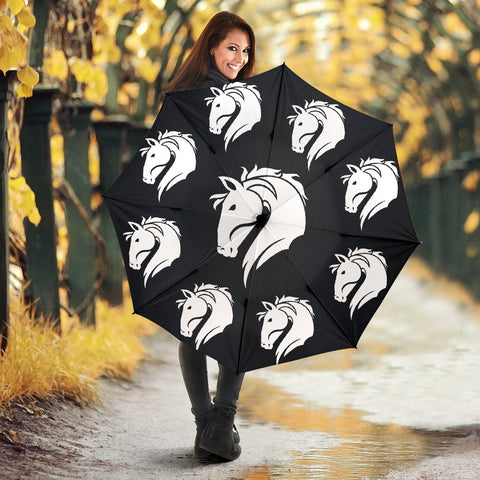 Friesian Horse Art Print Umbrellas